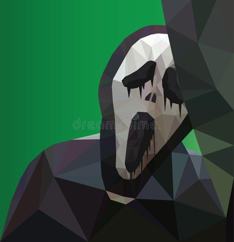 Poligonalna wrzask maska ilustracji