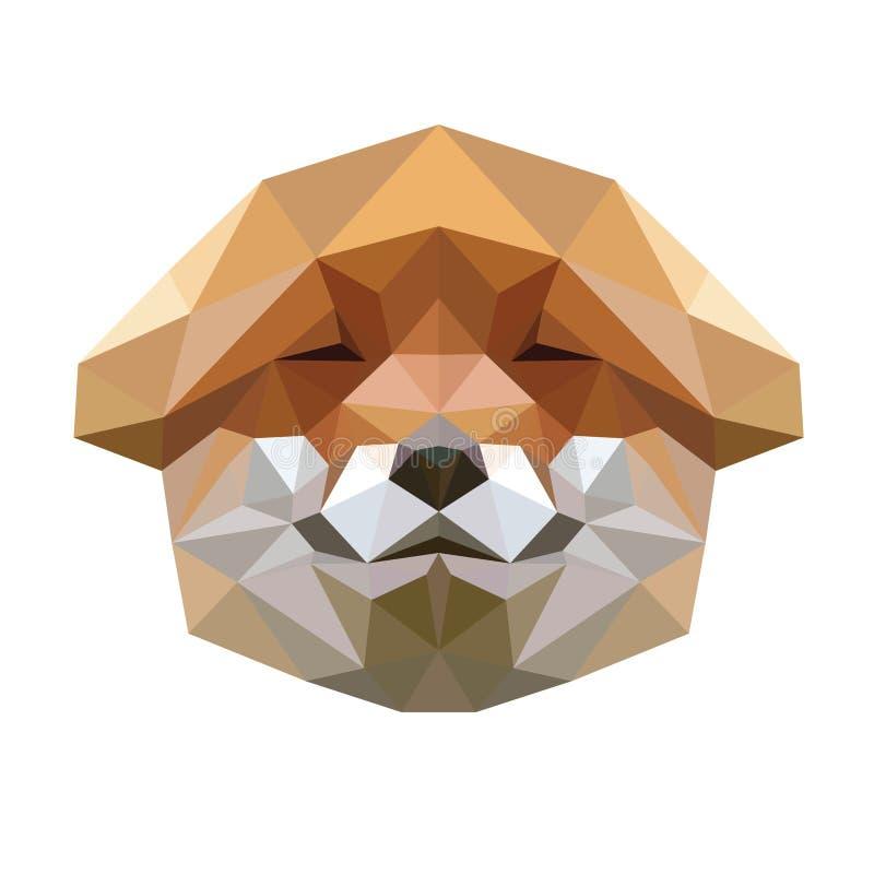 Poligonalna zwierzęca lis głowa zdjęcia stock