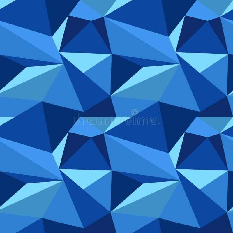 Poligonalny błękita wzór zdjęcie stock