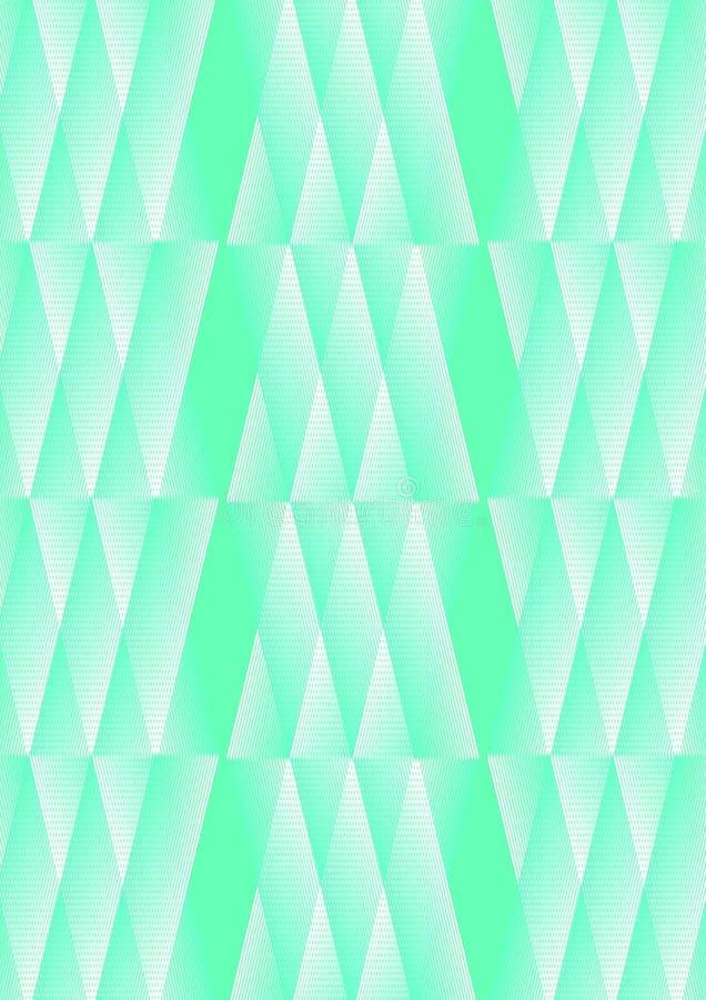 Poligonalny biały i zielony tło z świetną teksturą royalty ilustracja