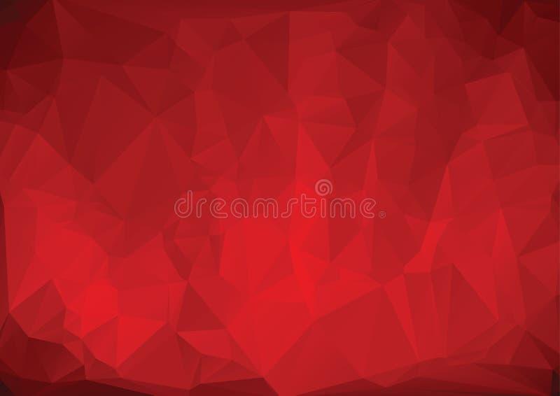 Poligonalny czerwony tło zdjęcia royalty free