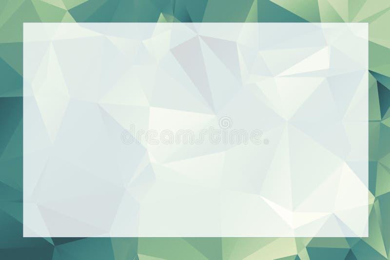 Poligonalny geometryczny abstrakt textured granicy i tła gree ilustracji