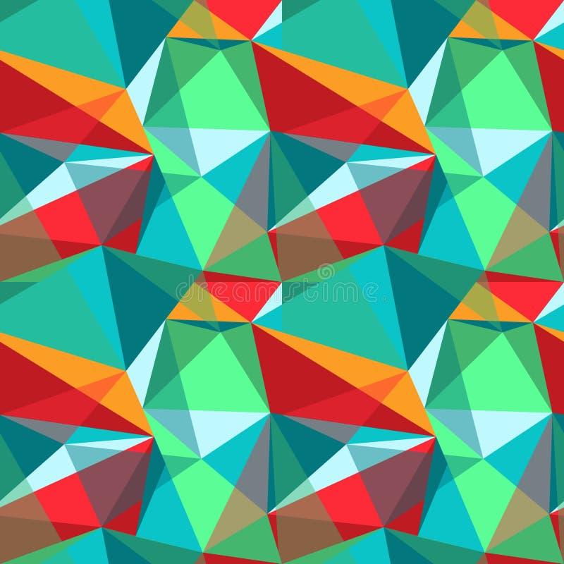 Poligonalny koloru wzór obraz stock
