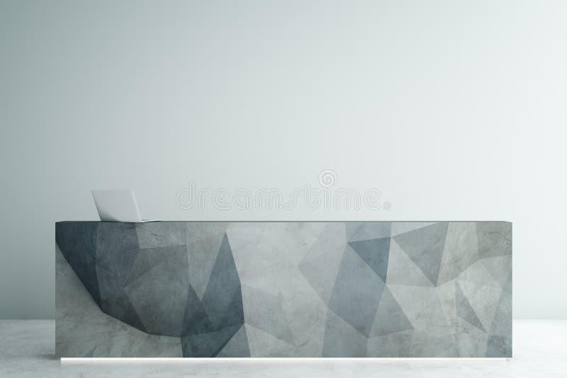 Poligonalny recepcyjny biurko ilustracja wektor