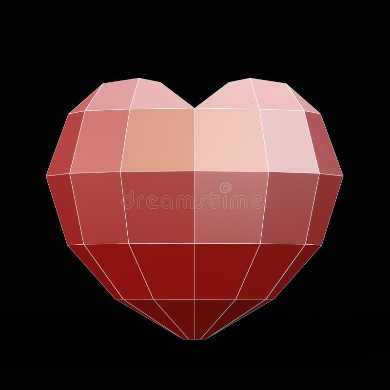 Poligonalny serce ilustracji