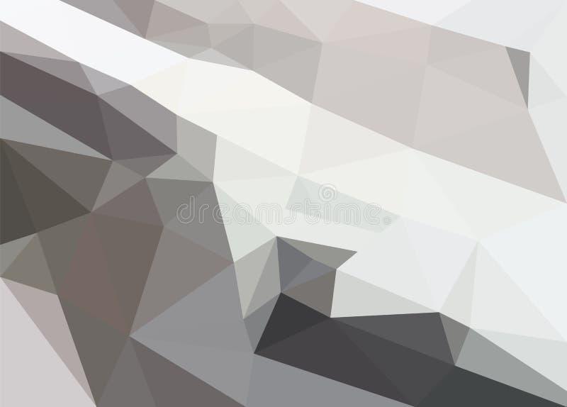 Poligonalny szary śnieżny skłon ilustracji
