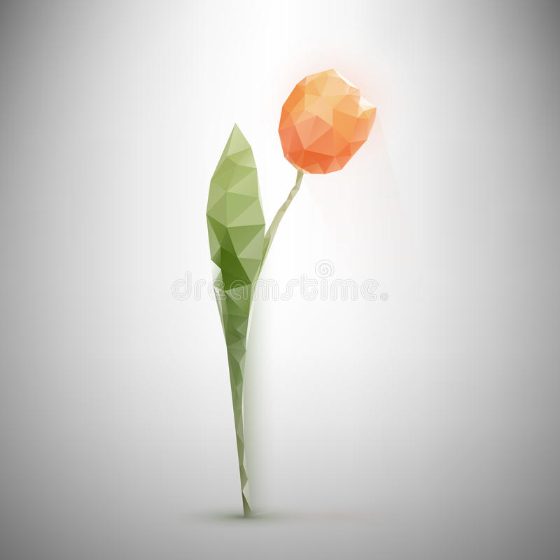 Poligonalny tulipan royalty ilustracja