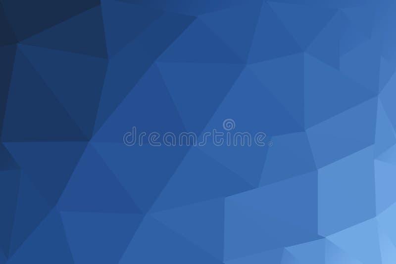 Poligono confuso BLU SCURO del triangolo illustrazione vettoriale