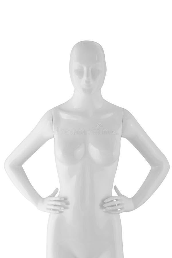Polijst de vrouw van de kleurenledenpop op wit wordt geïsoleerd dat royalty-vrije stock afbeelding