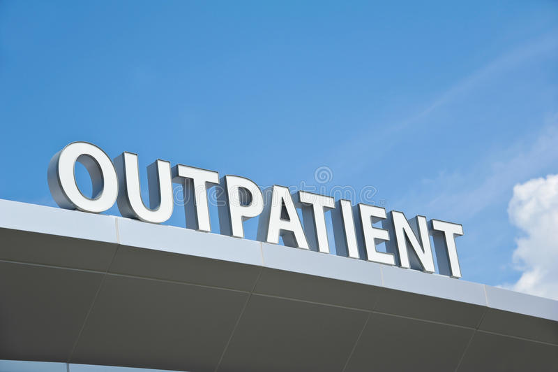 Poliklinische patiëntteken royalty-vrije stock fotografie