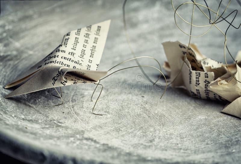 Polillas de papel foto de archivo