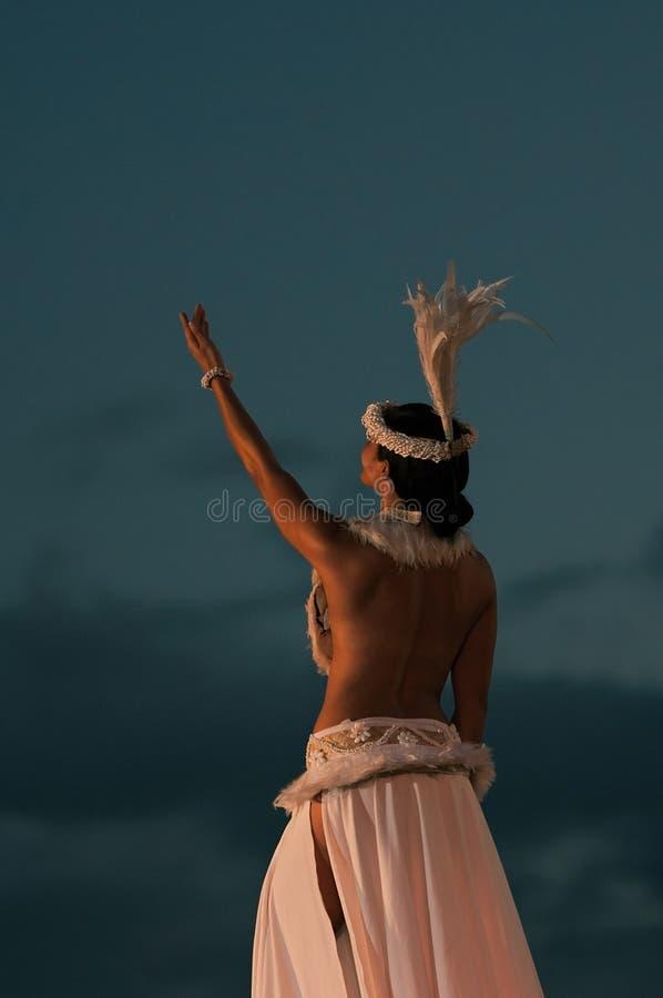 Polinesiano ballante fotografia stock libera da diritti