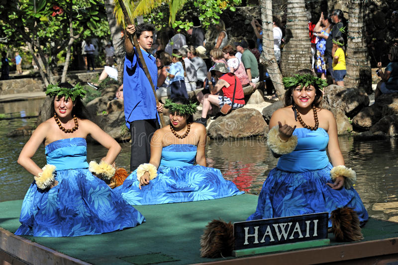 Polinezyjscy Tancerze obraz royalty free