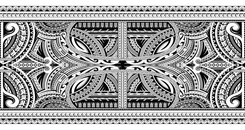 Polinezyjski ornamentacyjny tatua? ilustracji
