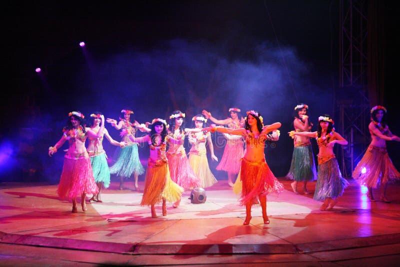 Polinezyjski taniec zdjęcia stock