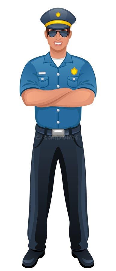 polis stock illustrationer