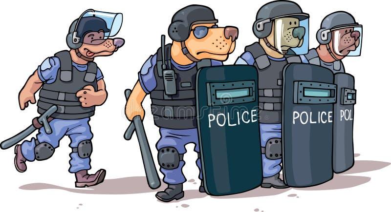 polis royaltyfri illustrationer