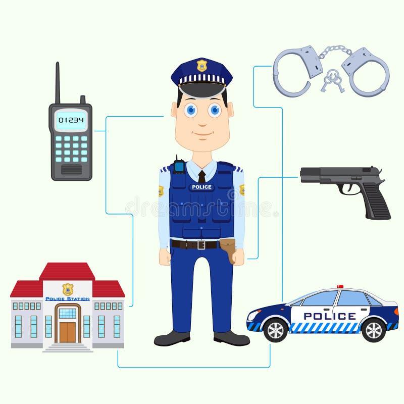 Polis vektor illustrationer