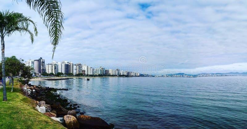 Polis ³ Beira mar - Florianà - Бразилия стоковое фото
