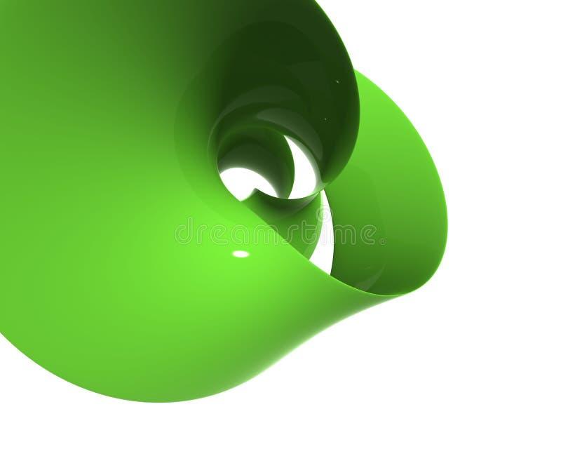 Polis en plastique verts de spirale et se refléter - résolution de bureau illustration de vecteur