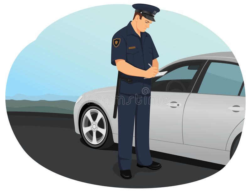polis för designillustrationtjänsteman dig vektor illustrationer