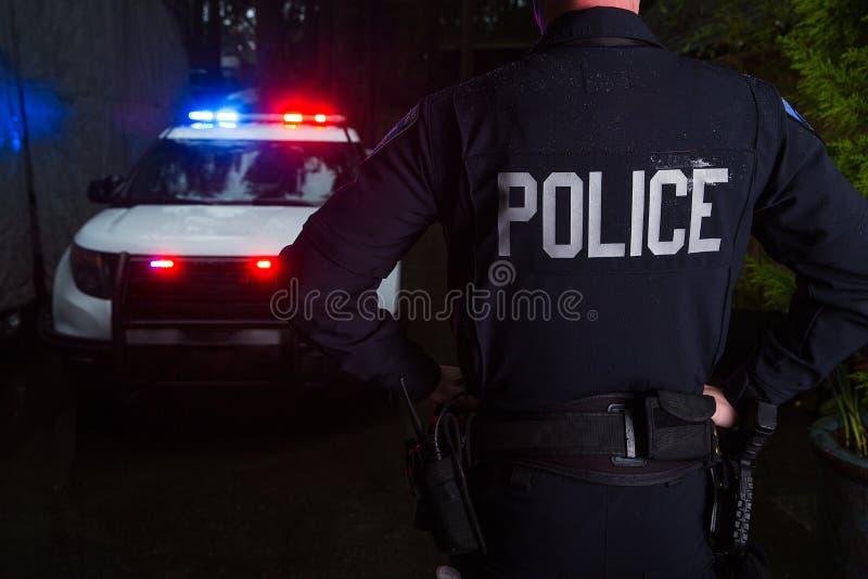 polis för designillustrationtjänsteman dig arkivfoto
