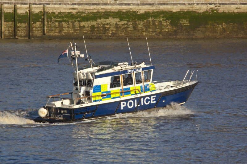 polis för fartygengland london patrull arkivfoto
