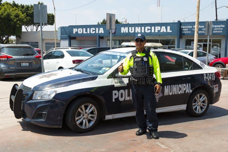 Polis i Tijuana, Mexico arkivfoton