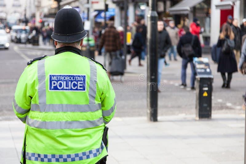 Polis på gator av London royaltyfri fotografi
