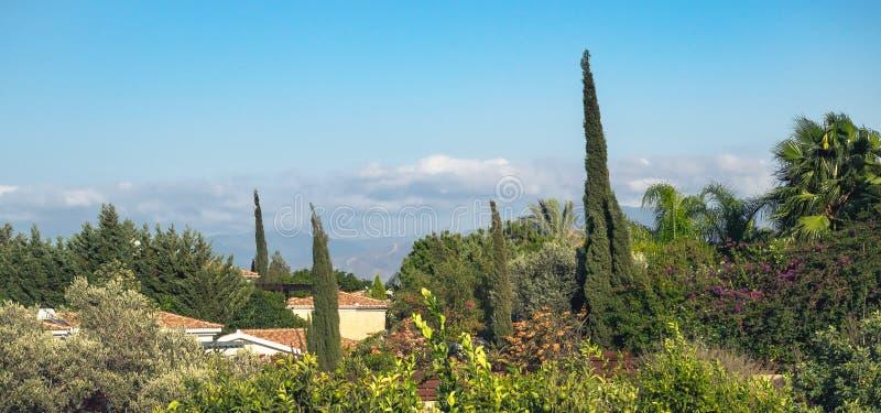 Polis-Stadt, Mittelmeerlandschaft von Zypern lizenzfreie stockbilder