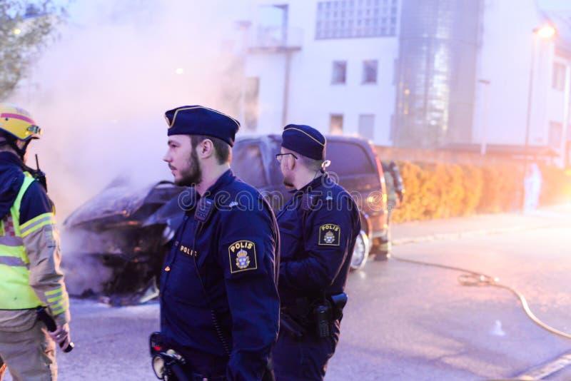 polis sweden arkivbild