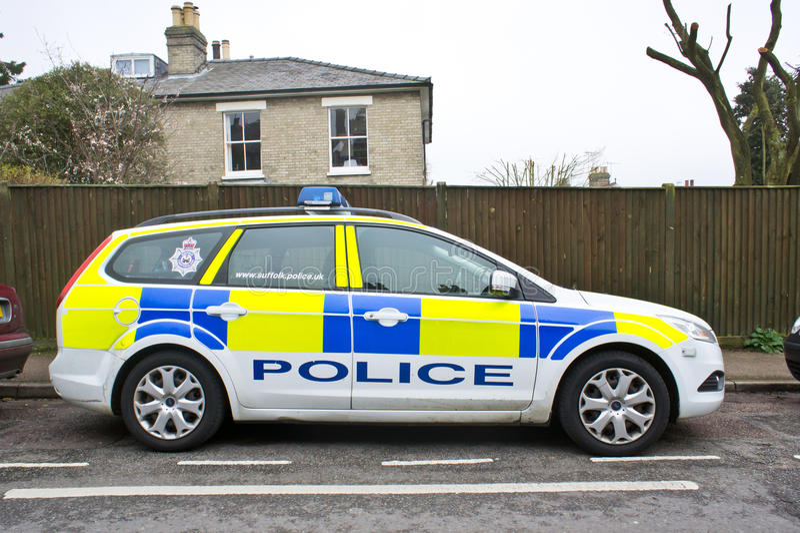 Polisbil arkivbild