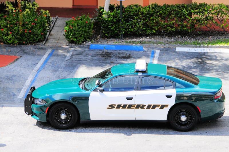 Polisbil, sheriff i Florida royaltyfri fotografi