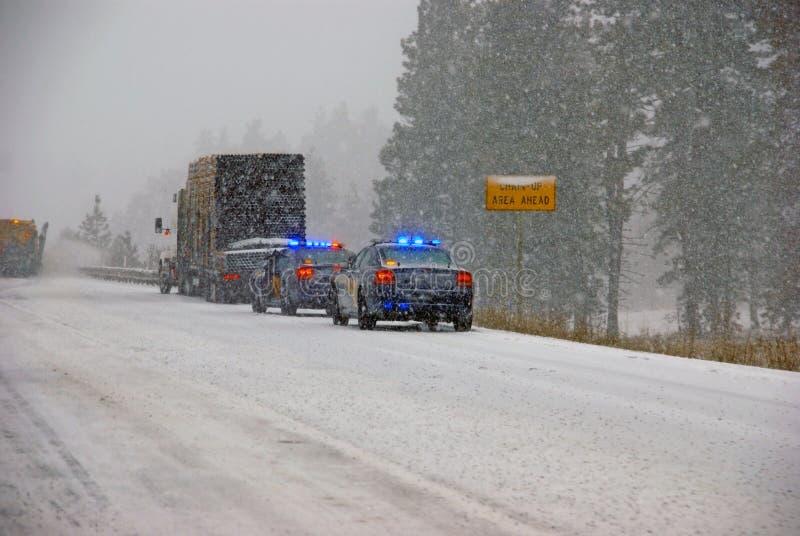 Polisbilstopp som ska hjälpas arkivbild