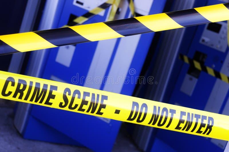 Polisbrottsplats arkivfoto