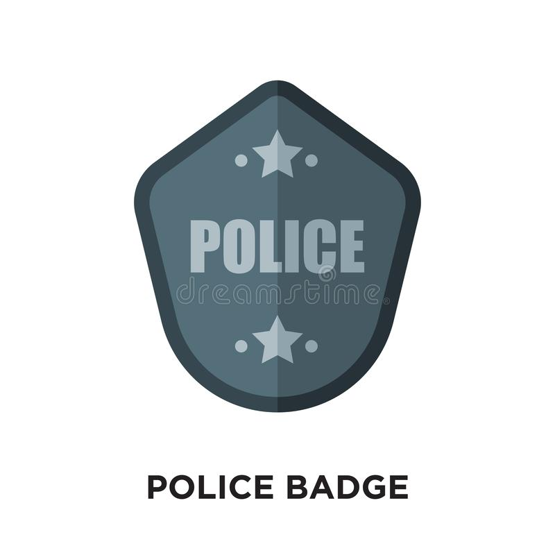 polisen förser med märke logo som isoleras på vit bakgrund för din rengöringsduk, folkhop royaltyfri illustrationer