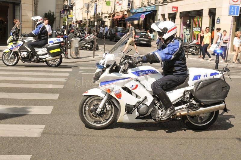Polisen i Paris, Frankrike fotografering för bildbyråer