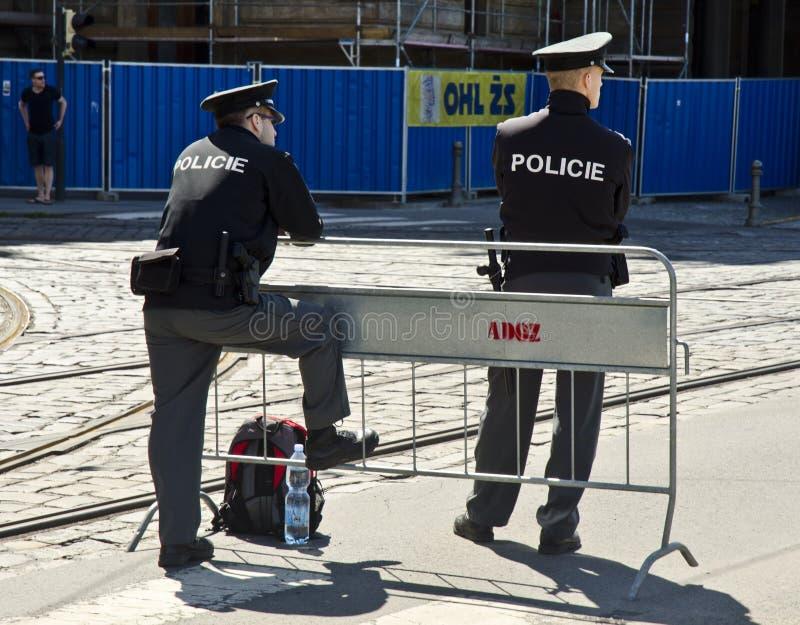 Polisen i Prague, Tjeckien arkivfoton