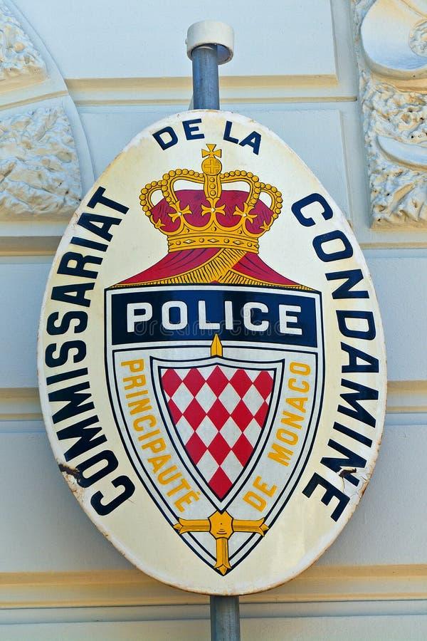 Polisen La Condamine, Monaco royaltyfria bilder