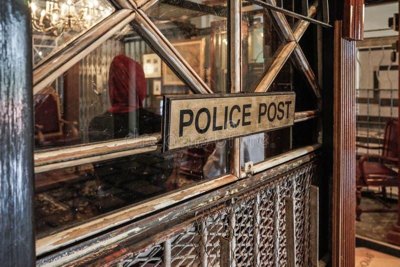Polisen postar i National Gallery Singapore, Iconic gränsmärke royaltyfria foton