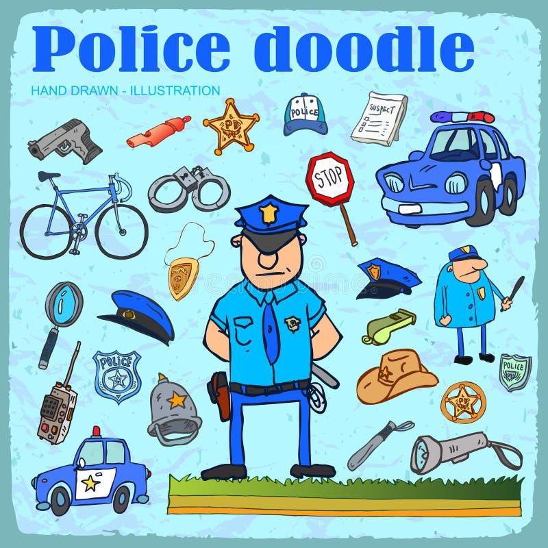 Polisen ställde in. stock illustrationer