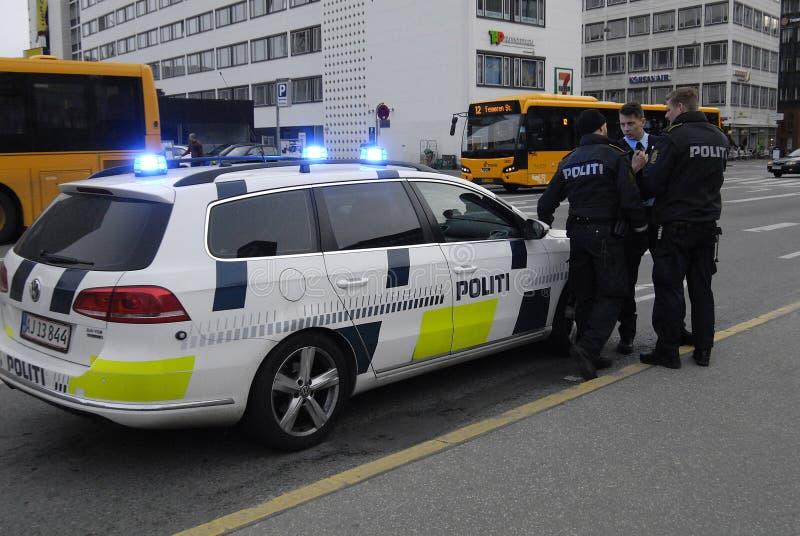POLISER _DANSKE POLITI arkivbild