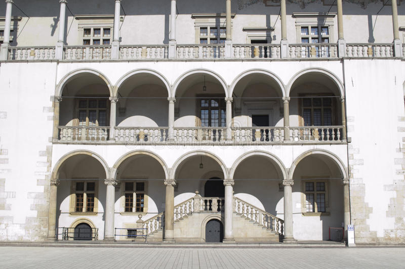 Polish Architecture. In the city of Krakow stock image