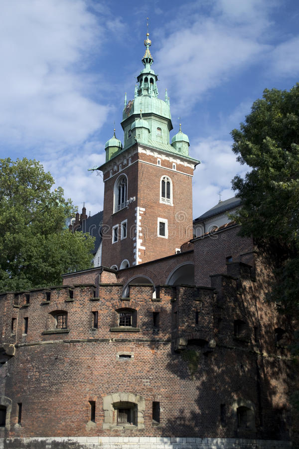 Polish Architecture. In the city of Krakow stock photography