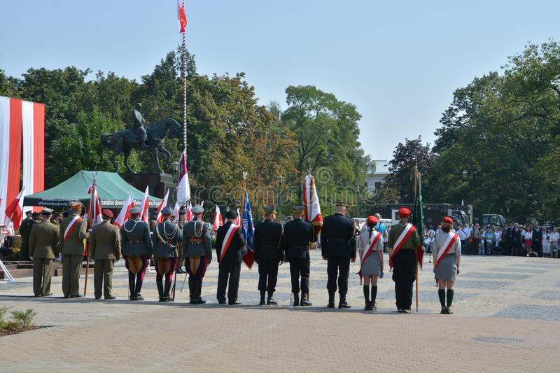 Polish Army Day. This is a view of ceremony of Polish Army Day. August 15, 2015. Lublin, Poland stock image