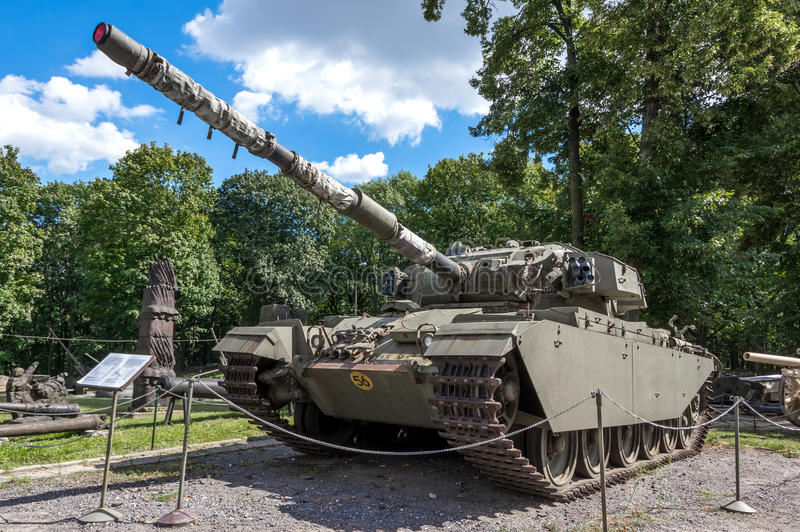 Weapons and equipment - Centurion. Centurion Mk 5, the best-known British main battle tank, one of the displays at the Museum of the Polish Army - Warsaw, Poland stock photography