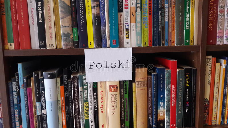 Polish books royalty free stock image