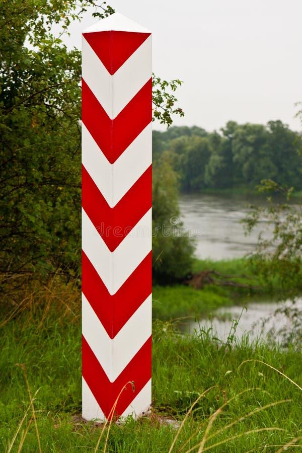 Polish Boundary Post Stock Images