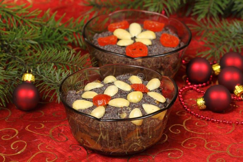 Polish Christmas desserts makowki royalty free stock images