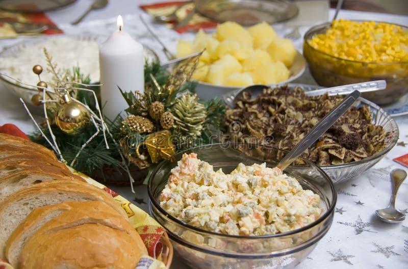 Polish Christmas table stock images
